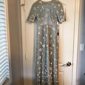 Bcbg light blue floral maxi dress
